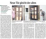 1 - Sächsische Zeitung 18.06.2010 - Neue Tür gleicht der alten